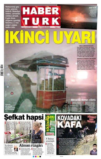 Habertürk Gazetesi 2017 manşetleri