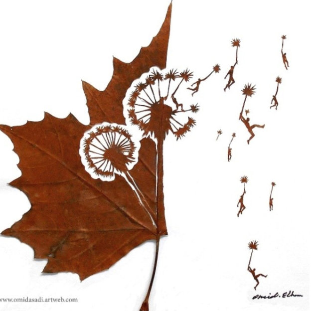 Yapraktan sanat eserine