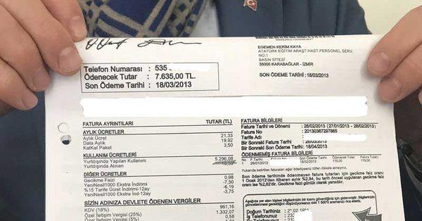 7 bin 600 liralık fatura mahkemeden döndü