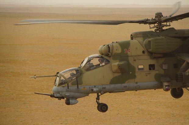 Suriye'de Rusya'ya ait helikopter düştü!
