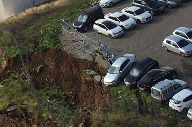 Son dakika... Ataşehir'de toprak kayması!