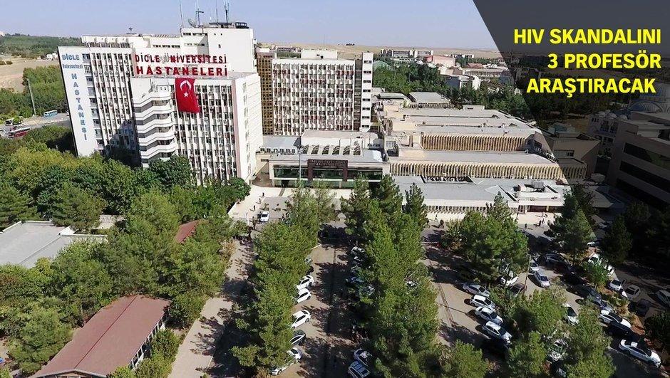 Dicle Üniversitesi Diyarbakır  HIV skandalı Prof. Dr. Talip Gül