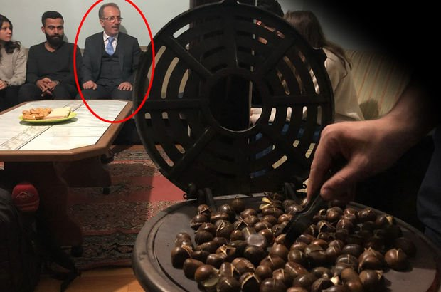 Öğrenciler davet etti, Bartın Üniversitesi Rektörü Orhan Uzun, kestane yemeye gitti