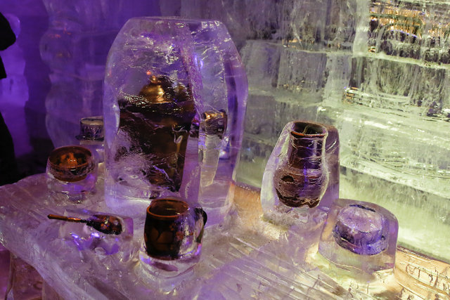 Moskova'da buzdan heykeller festivali