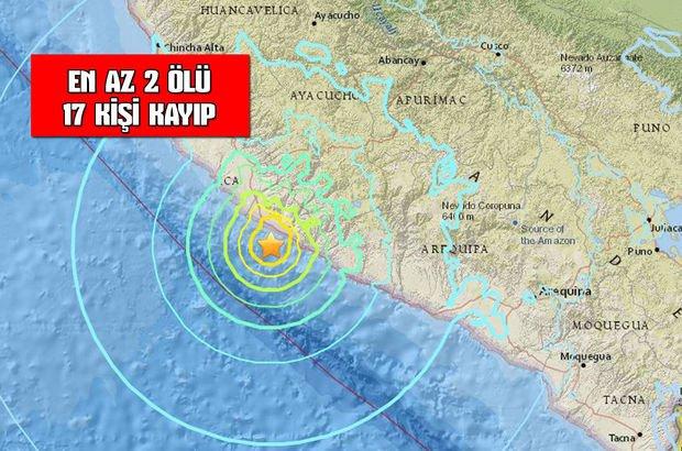 Peru'da şiddetli deprem!