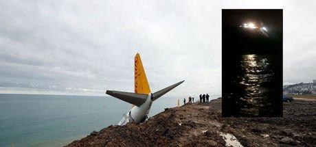 Trabzon'da pistten çıkan uçakla ilgili yeni görüntüler ortaya çıktı