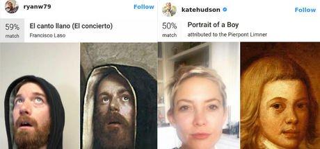 Google Arts & Culture ile tablolardaki benzerlerini buldular