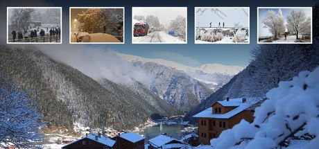 Yurttan muhteşem kar manzaraları