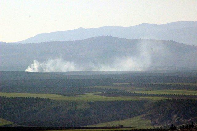 Afrin'den 'Zeyin Dalı Harekatı'na yönelik ilk kareler!