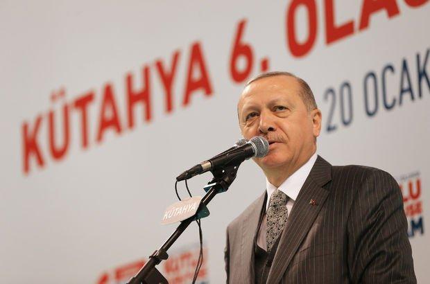 Cumhurbaşkanı Erdoğan'dan Kütahya'da açıklamalar