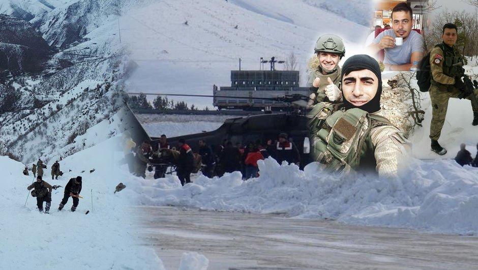 Bitliste askeri timin üzerine çığ düştü: 2 asker şehit