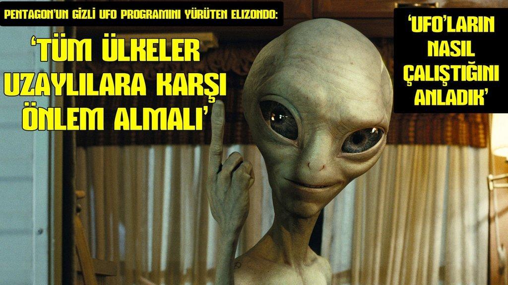 Pentagon'un gizli UFO programını yürüten Elizondo