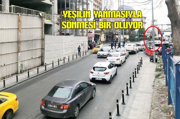 Taksim yeşil ışık