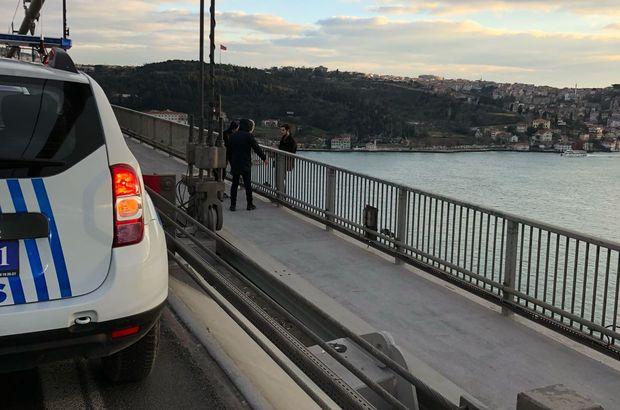 15 Temmuz Şehitler Köprüsü'nde intihar girişimi!