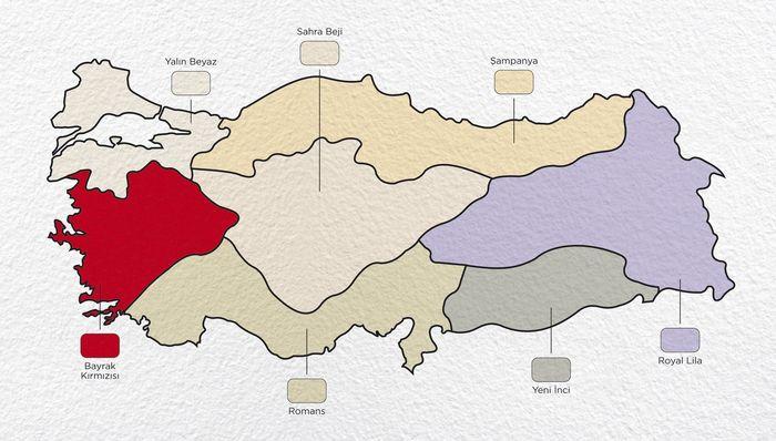 Bölge Bölge Türkiyenin Renk Haritası Haberler