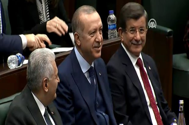 Erdoğan, Yıldırım ve Davutoğlu ile yan yana