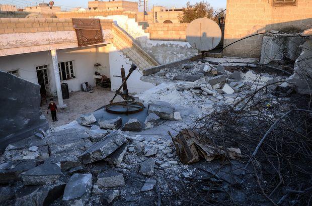 Azez'de kapalı pazar yerine roket düştü
