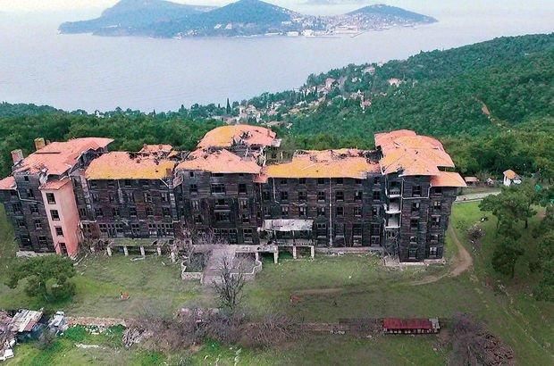 İstanbul Büyükada Rum Yetimhanesi Avrupa'nın Tehlike Altındaki 12 Kültürel Mirası onarım