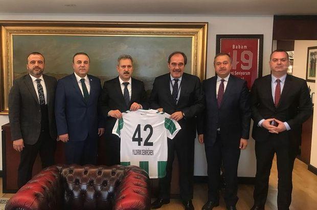 Konyaspor yönetiminden TFF'ye ziyaret