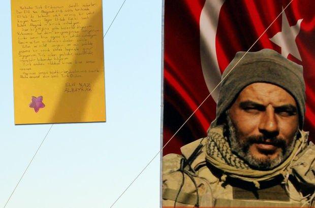 Afrin'deki Mehmetçiklere tüyleri diken diken eden mektup