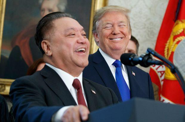 Hock Tan ve Donald Trump