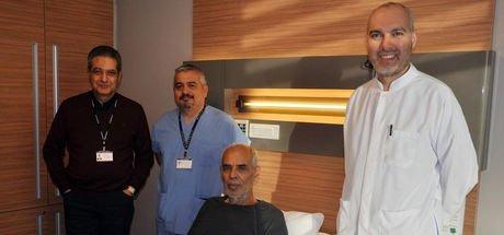 Adana'da karnında patlamaya hazır bir damar olan M. Ali Kütük tedavi edildi