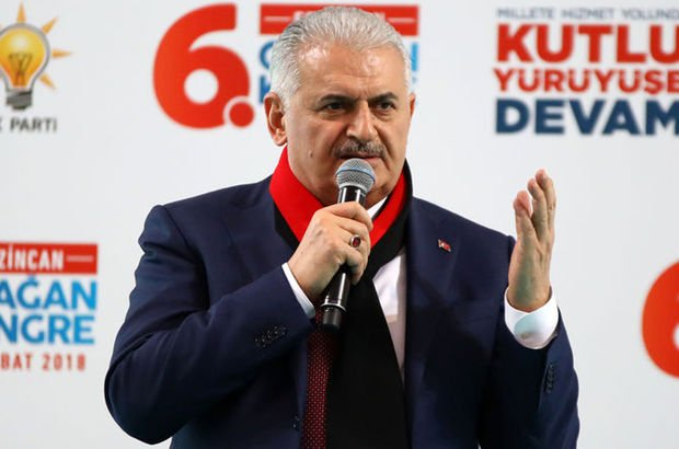 Başbakan Yıldırım Erzincan'da konuşuyor
