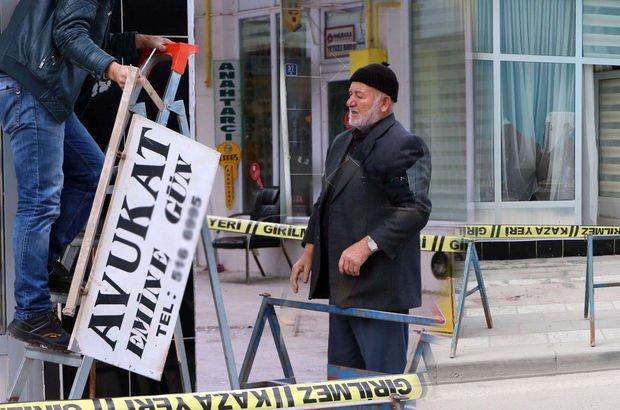 Şehidi icraya veren avukata şok! Bürosunun camları kırıldı