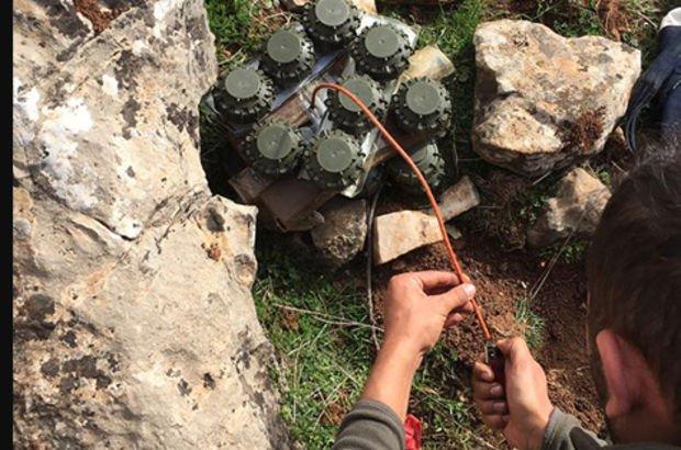 Afrin Harekatı'nda anti-personel mayını ele geçirildi