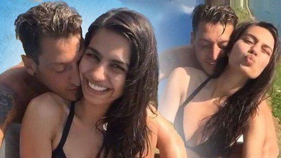 Mesut Özil'den sevgilisi Amine Gülşe'ye öpüşme anlayışı!