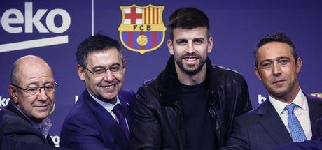 Ali Koç Camp Nou'da sponsorluğu açıkladı! Beko Barcelona'nın global baş sponsoru oldu