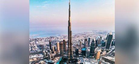 Drone ve balık gözü lensle kuş bakışı Dubai!