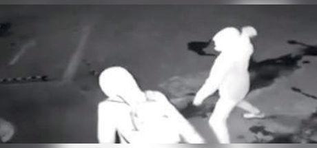 Çinli hırsız tuğlayı vitrin yerine suç ortağına attı