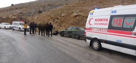 Konya'da otomobilinin yanında başından vurulmuş olarak bulundu