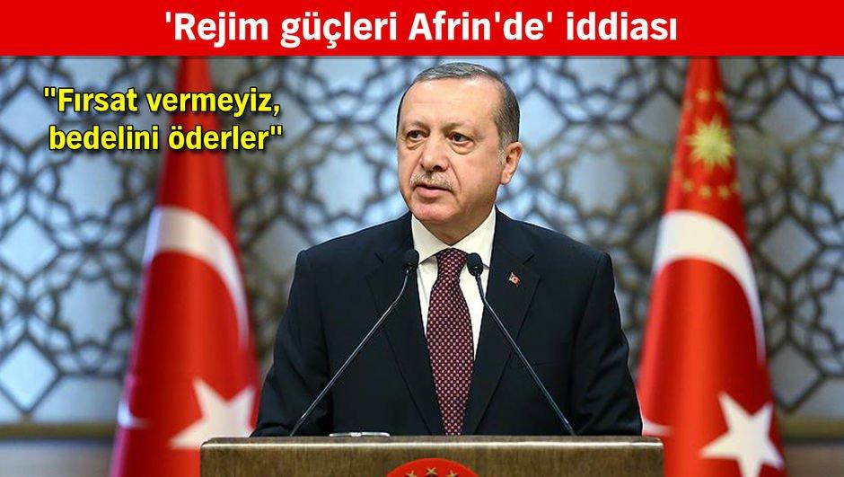 Cumhurbaşkanı Erdoğan: Top atışı yapılınca geri dönmek zorunda kaldılar