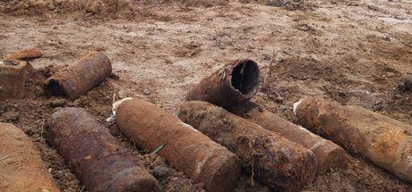 Birinci Dünya Savaşı'ndan kalma top mermileri bulundu