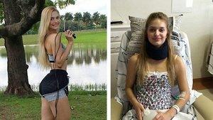 Mekik çekerken felç kalan Brezilyalı fitness modeli imkansızı başardı!