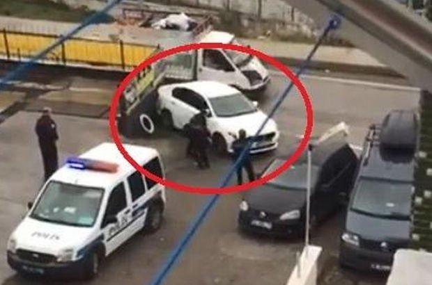 Kaçmaya çalıştılar, polis lastiklere ateş etti!