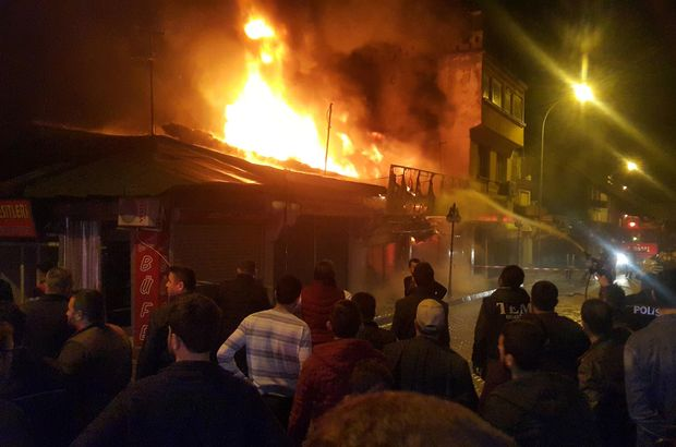 150 dükkanın bulunduğu çarşıda yangın