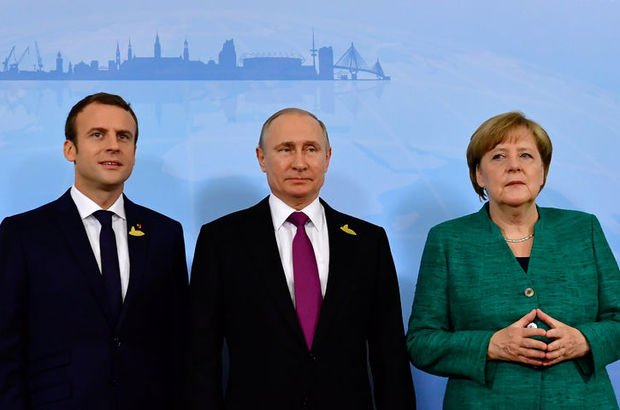 SON DAKİKA! Putin, Suriye ateşkesi hakkında Merkel ve Macron ile görüştü