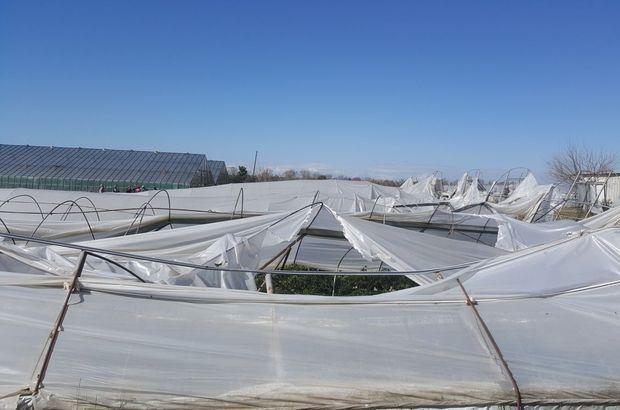 Antalya'da hortum seralarda hasara yol açtı
