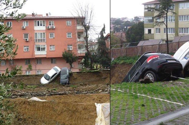 Kadıköy'de toprak kayması! Bina boşaltıldı (Son dakika)
