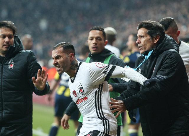 Beşiktaş Fenerbahçe maçında kavga! Yumruklar havada uçuştu! Quaresma, Mehmet Ekici...