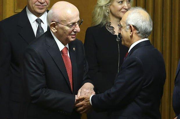 TBMM Başkanı Kahraman'dan Kılıçdaroğlu'na geçmiş olsun ziyareti