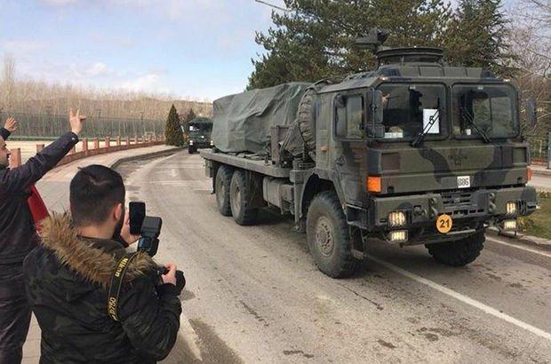 Görüntüler Karadeniz'den! Karadeniz'de merak uyandıran askeri sevkiyat