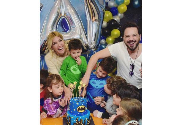 Çağla Şıkel ile Emre Altuğ oğullarının doğum gününü kutladı - Magazin haberleri