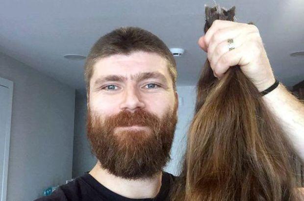 Turgay Yıldırım, saçını kanser hastalarına bağışlamak için kestirdi