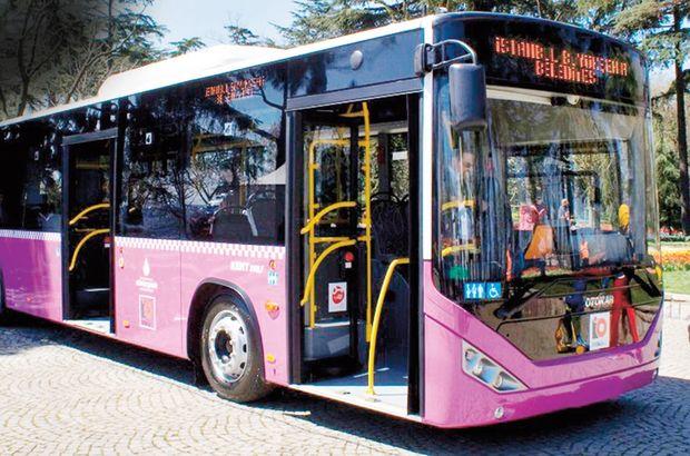 İstanbul Otobüs A.Ş. erguvan otobüsler İstanbul  eylem