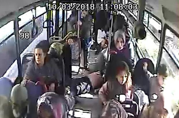 Halk otobüsünde yolcular şok oldu! Aniden yere yığıldı