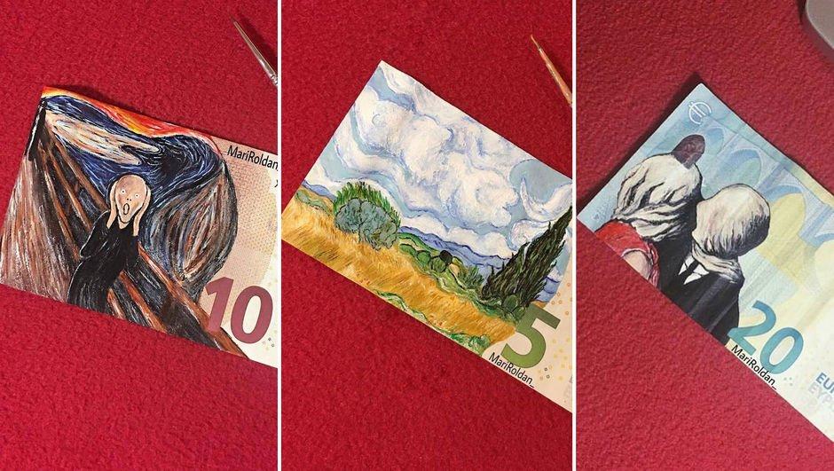 Mari Roldan'ın para üzerindeki sanatı!